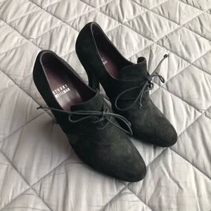 Stuart Weitzman black lace-up heels 6.5